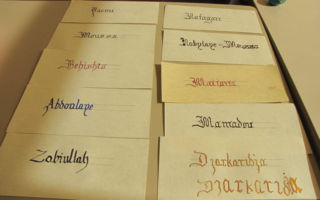 Expérience calligraphique